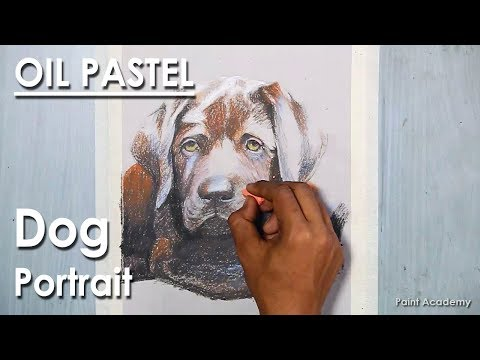 How to Draw A Dog : Realistic Drawing Tutorial with Oil Pastel | Learn my shading technique
