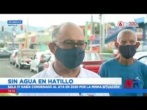 Vecinos de Hatillo y Mata Redonda sufren de cortes de agua hasta por 15 horas