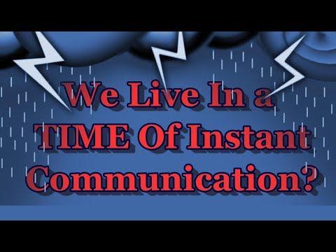 Instant Communication? Only For Social Media!