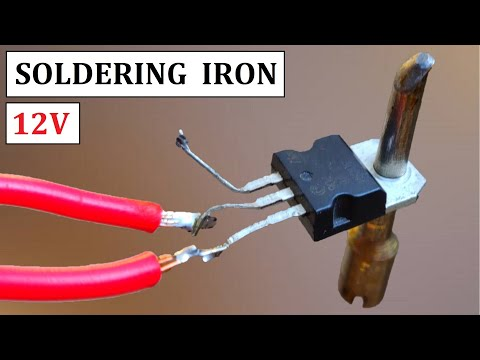 12V DC ( UPS Battery ) Powered Soldering Iron from Dead Old Power Transistor - Project Idea 2020