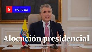 Presidente Iván Duque informa a Colombia sobre pandemia y cuarentena   Julio 4