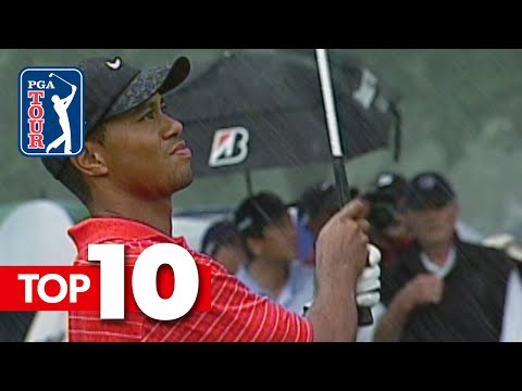 Tiger Woods' all-time shots in World Golf Championships