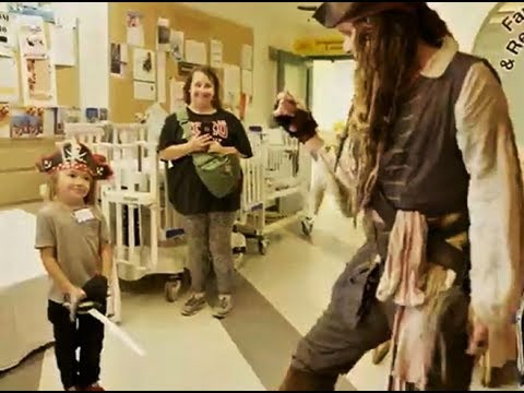 Johnny Depp at the British Columbia Children's Hospital in Vancouver