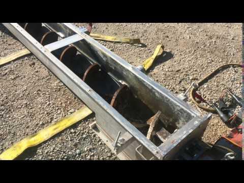"""Used 10""""Ø X 13'-6"""" Shaftless Screw Conveyor, Carbon Steel"""