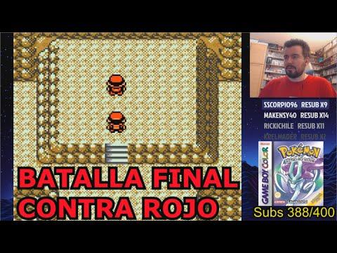 BATALLA FINAL de POKEMON CRISTAL (Game Boy Color) - Rojo el Flojo vs Build Tiramierdas