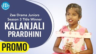 Zee Drama Juniors S3 Title Winner Kalanjali Prardhini Interview Promo | Dil Se With Anjali - IDREAMMOVIES