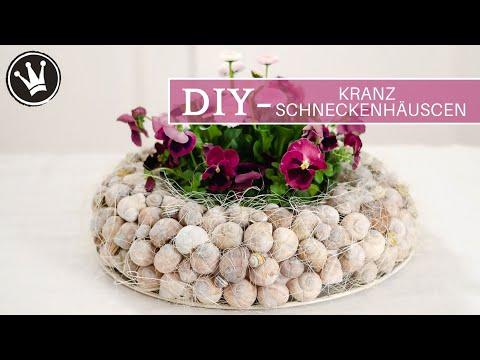 DIY – Frühlingsdeko | KRANZ aus SCHNECKENHÄUSCHEN selber machen |mit Gänseblümchen & Stiefmütterchen