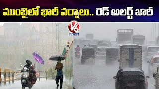 IMD Issues Orange Alert For Mumbai backslashu0026 Red Alert For Maharashtra Due To Heavy Rainfall | V6 News - V6NEWSTELUGU