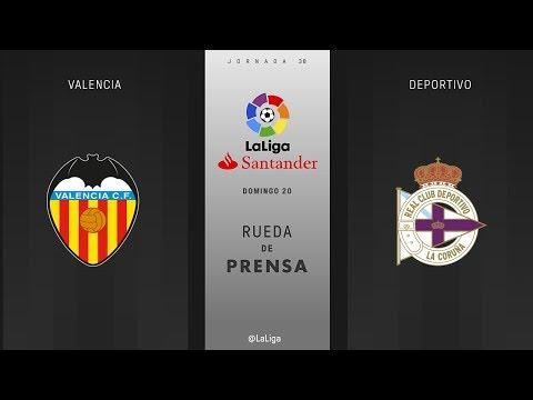 Rueda de prensa Valencia vs Deportivo