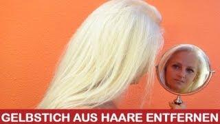Gelbstich Entfernen Platinblonde Haare Tipps Für Blondierung Und