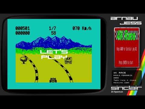 4k RACE Zx Spectrum by Paolo Ferraris