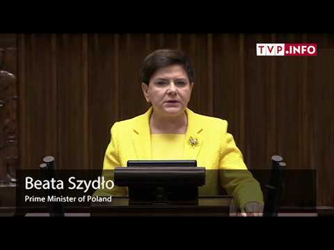 Beata Szydło admonished the opposition for working against the country