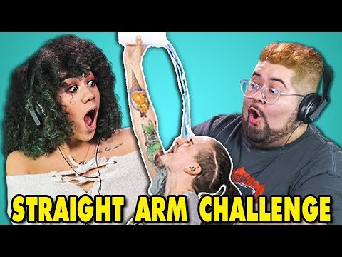 connectYoutube - COLLEGE KIDS REACT TO STRAIGHT ARM CHALLENGE (#StraightArmChallenge)