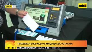 Presentan 3.000 nuevas máquinas de votación