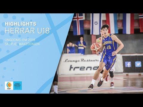Highlights: Herrar U18 i EM 2018 🏀🇸🇪