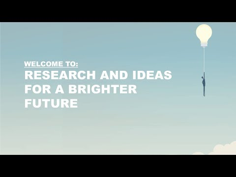 Research and ideas for a brighter future – part 1