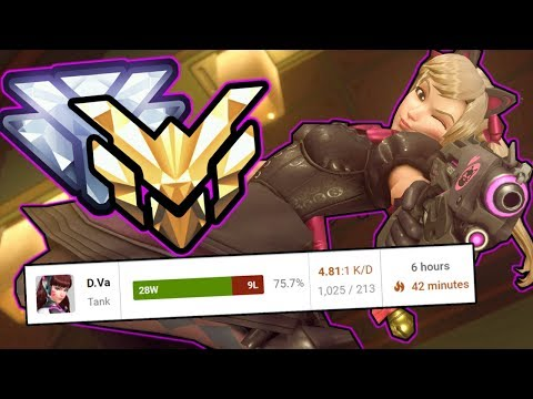 How I Got A 75% Winrate From DIAMOND To MASTERS with Dva - Overwatch