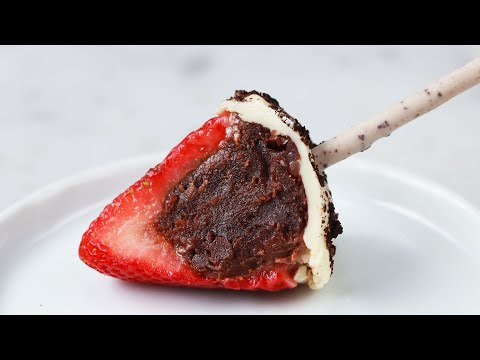 How To Stuff Strawberries With Brownie Truffles ? Tasty