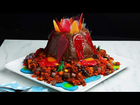 A Show-Stopping Volcano Cake That Will Shock Your Family ? Tasty