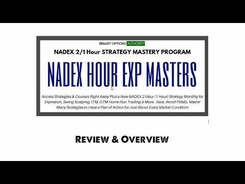 NADEX 2 Hour 1 Hour MASTERS Program Review