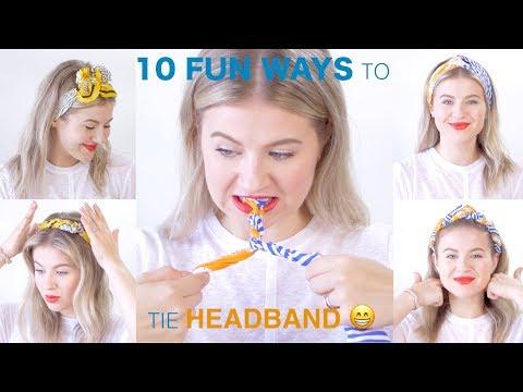 10 FUN Ways To Tie HAIR SCARF (SUPER SIMPLE) 😁