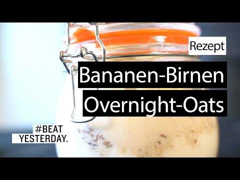 Rezept: Bananen-Birnen-Overnight-Oats | #BeatYesterday