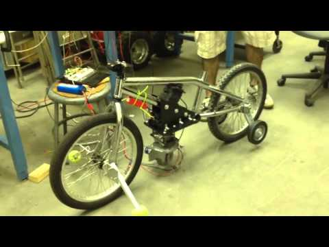 Gyroscopic Stabilization of a Robotic Bicycle