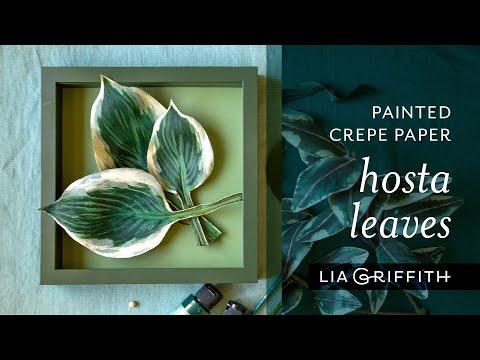DIY Crepe Paper Hosta Leaves