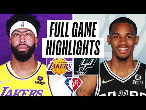 LAKERS at SPURS | FULL GAME HIGHLIGHTS | October 26, 2021