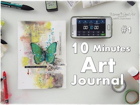 10 Minutes Art Journal #1 ♡ Maremi's Small Art ♡
