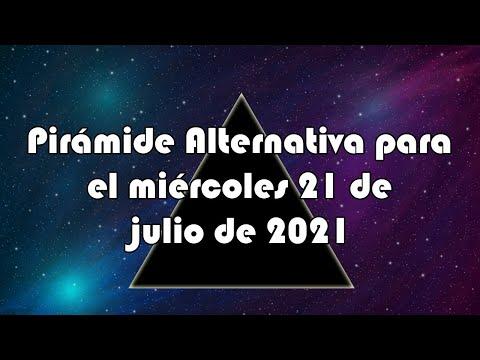 Lotería de Panamá - Pirámide Alternativa para el miércoles 21 de julio de 2021