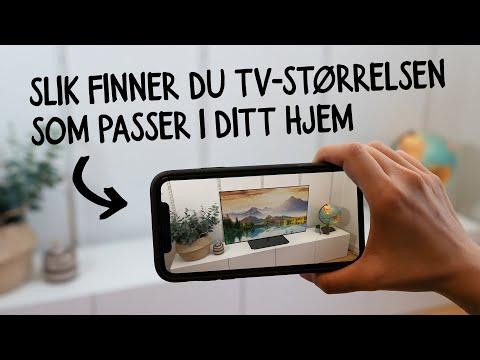 Slik finner du TV-størrelsen som passer i ditt hjem