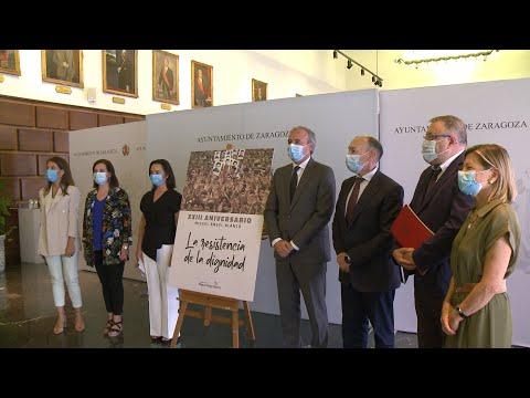 Zaragoza recuerda a Miguel Ángel Blanco en el 23º aniversario de su asesinato sin Podemos ni ZeC