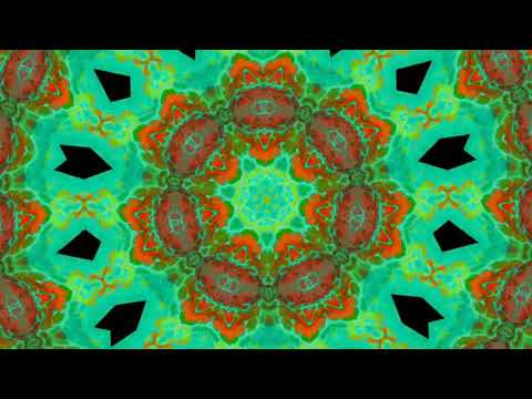 Zen Relax kaleidoscope video with piano