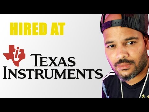 Web Developer got Hired at Texas Instruments by doing...