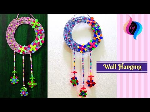 How to make wall hangings at home - Wall hanging with waste material - Making best out of waste