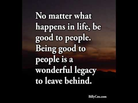 No Matter What Happens In Life - Billy Cox