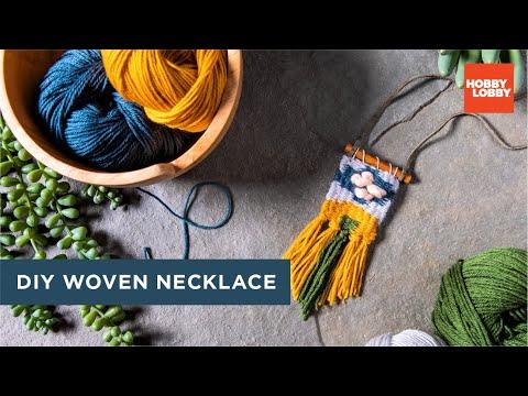 How to Macramé: DIY Woven Necklace | Hobby Lobby®