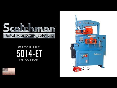 5014ET - Scotchman NEW 50-ton Ironworker metal fabricating machine w-electric stroke - Made in USA