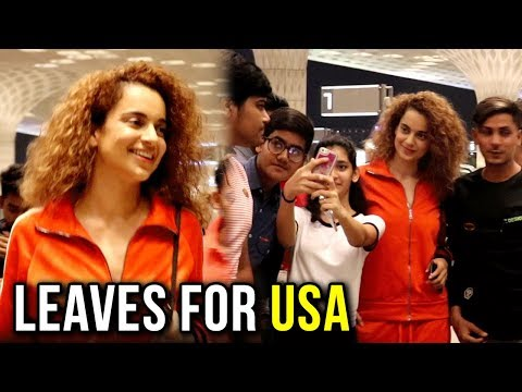 Kangana Ranaut's KIND Gesture Towards Fans As She Leaves For USA