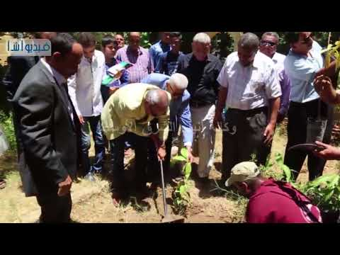 بالفيديو : استجابة لمبادرة الرئيس محافظ قنا يشارك فى مبادرة زراعة مليون شجرة مثمرة