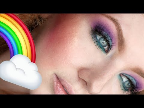 Full Face Makeup Tutorial Using ALL Colors of the RAINBOW