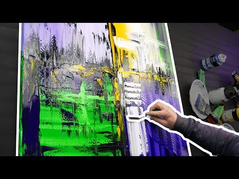 Powerful and bright abstract painting demo HD | Metrophon