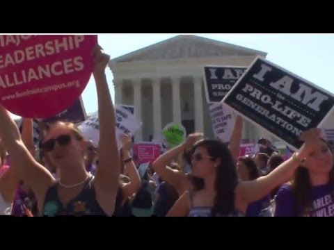 Protesters celebrate as Supreme Court rejects Texas abortion law