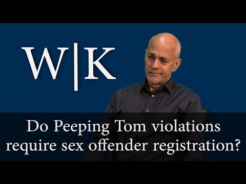 Do you have to register as a sex offender for a Peeping Tom violation?