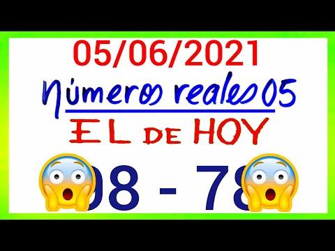 NÚMEROS PARA HOY 05/06/21 DE JUNIO PARA TODAS LAS LOTERÍAS...!! Números reales 05 para hoy....!!