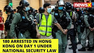 180 Arrested in Hong Kong on Day 1 Under National Security Law | NewsX - NEWSXLIVE