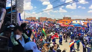 Bolivia | Lucho y David en Celebración de la victorias del Binomio del MAS IPSP en el Alto - La Paz