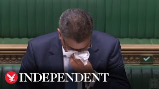 Business Secretary Alok Sharma appears unwell in House of Commons