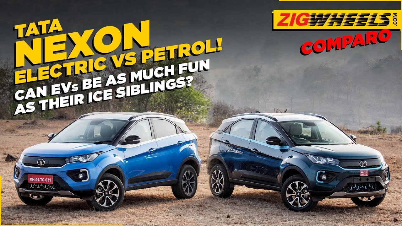 Tata Nexon EV vs Tata Nexon Petrol I Drag Race, Handling Test And A Lot More!